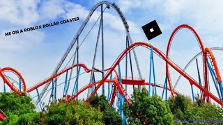 Me in roblox on a roller coaster