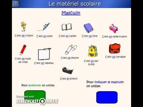 Assez Materiel scolaire - YouTube QL55