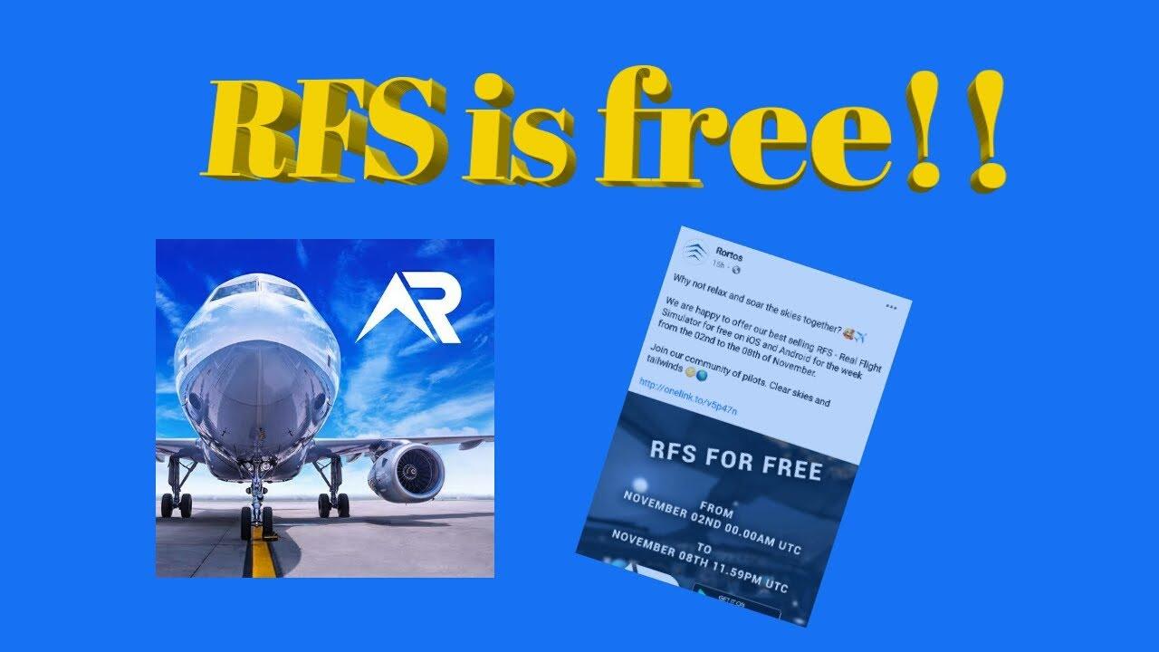 RFS- Real Flight Simulator is free!! Get it now! - YouTube
