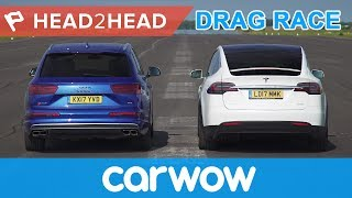 Tesla Model X vs Audi SQ7 - Electric vs Diesel acceleration challenge | Head2Head