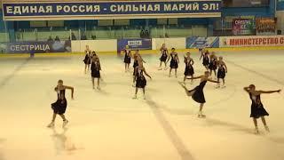 Чемпионат России по синхронному катанию  KMC  КП 11 Кристалл Айс МОС
