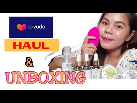 LAZADA HAUL AND UNBOXING | MYSTERY BOX | ORGANIC MANILA | SONIC FACIAL BRUSH