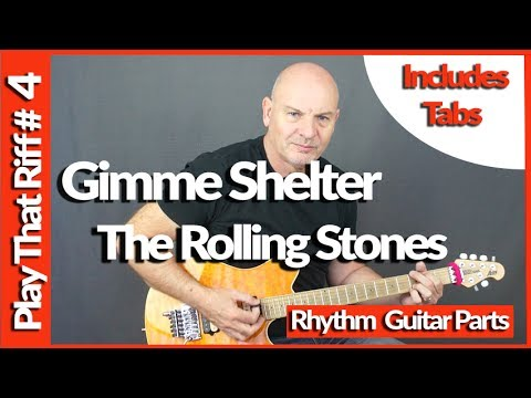 Gimme Shelter by The Rolling Stones Guitar Lesson