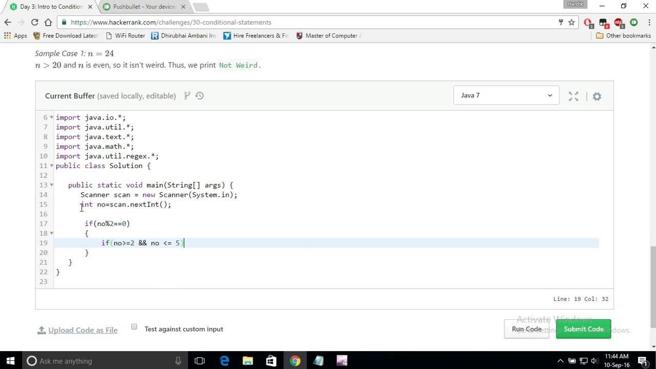 Hackerrank problems solutions in c