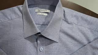 레디코 레디핏 슬림 카치온 솔리드 블루 와이셔츠-RFD…