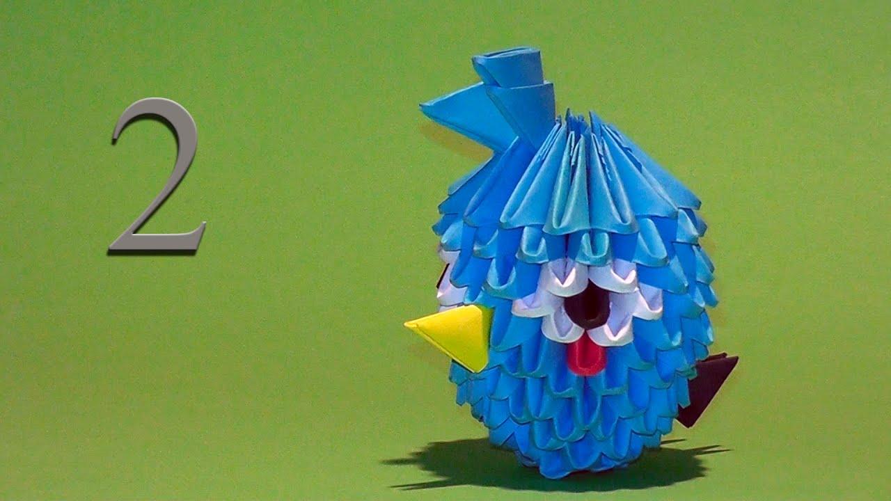 модульное оригами схема angry birds