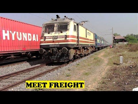 Ahmedabad Mumbai Passenger VS Container Freight