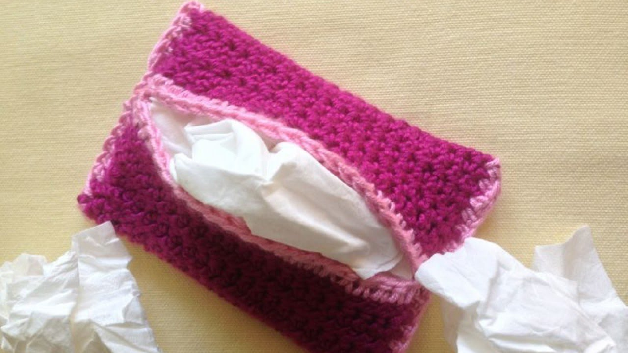 How To Make A Crochet Tissue Pouch For Your Handbag Diy Crafts