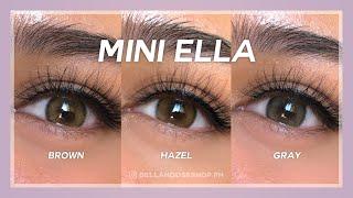 TRY ON: Kitty Kawaii Mini Ella Brown, Hazel & Gray Contact Lens PH #bellahouseshopph