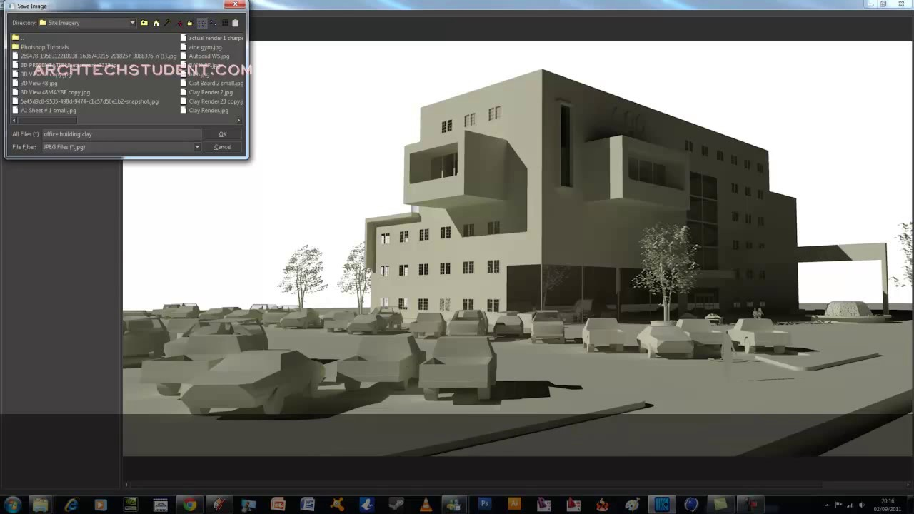 Tutorial Sketchup To Kerkythea Clay Rendering Technique Archtechstudent Com