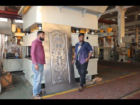 Hydraulic Galvanized Door Plate Embossing Machine, Metal Door Sheet Pressing Machine