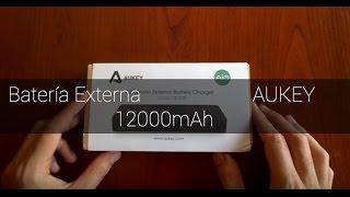 Review batería externa AUKEY 12000 mAh y con linterna!