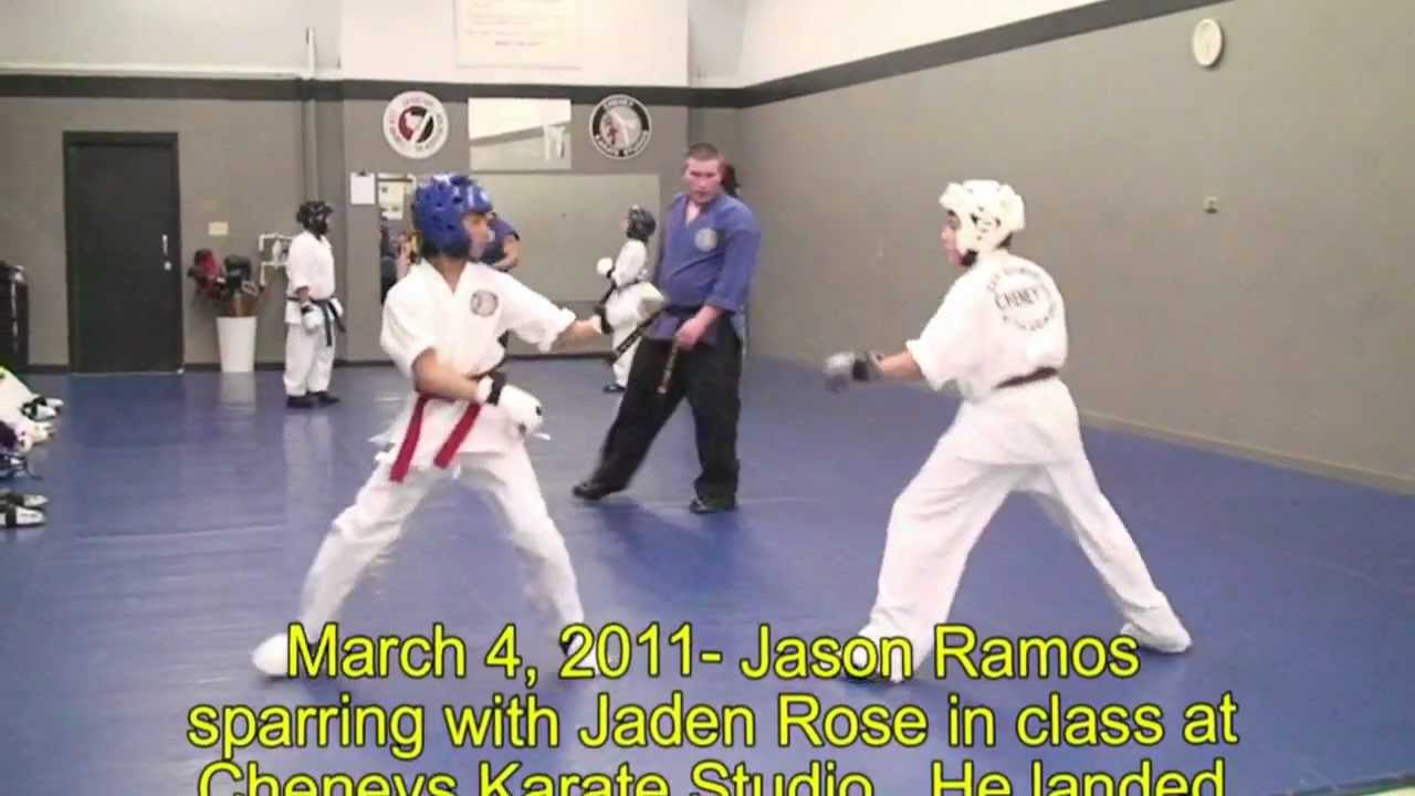 Download Jason Ramos of Cheney's Karate - triple spinning kick in sparring.mpg