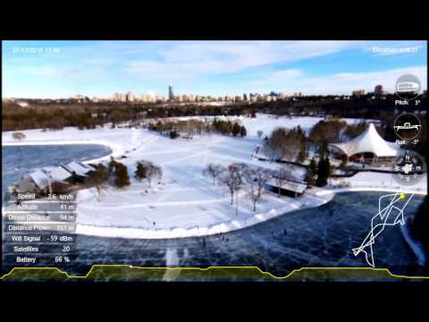 Parrot Bebop 2   - Flight on ice - Dec. 2016 - Edmonton, Canada