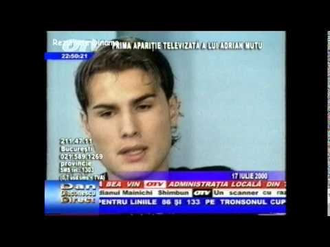 Adrian Mutu la TV (17 iulie 2000)