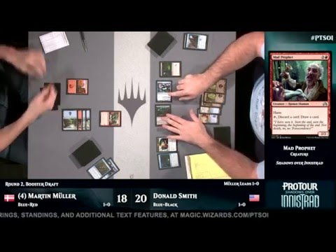 Pro Tour Shadows over Innistrad Round 2 (Draft): Martin Müller vs. Donald Smith
