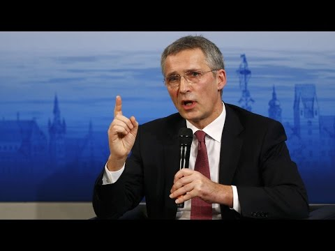 Secretary General Jens Stoltenberg NATO Chief Concerned Over Russia's Actions Press Conference