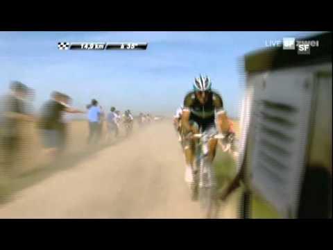 The TV moto that decided Paris-Roubaix 2011