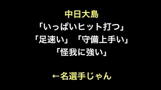 プロ野球 中日大島 「いっぱいヒット打つ」「足速い」 「守備上手い」「...