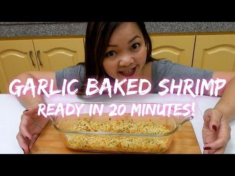 Garlic Baked Shrimp   Ready In 20 Minutes!