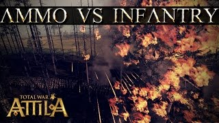 Total War Attila Mechanics - Crossbows - Killing Infantry With Fire
