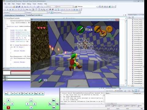 The Legend of Zelda: Ocarina of Time UDK - Inside the Deku Tree GamePlay