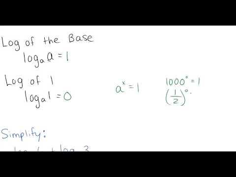 A1 Week 7 HW Video 2 Laws of Logs 4U
