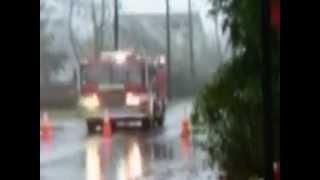 Hurricane Sandy rain closes street in Wayland MA
