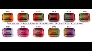 Natural Bi Color TOURMALINE Gemstones as well as  in Lab Creat…