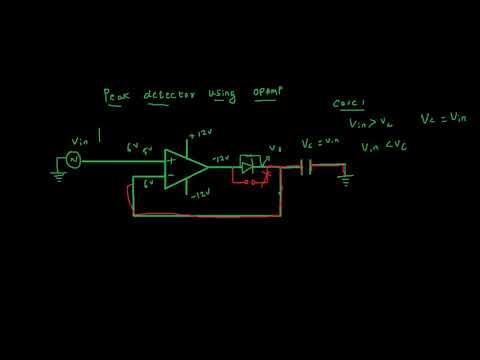 working of peak detector circuit using op amp youtube rh youtube com 2 Diode Peak Detector Level Detector Circuit