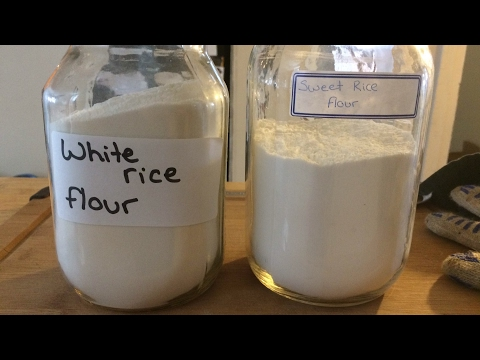 How do i make sweet rice flour