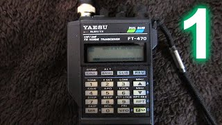 Yaesu FT-470 handheld amateur radio transceiver, Part 1: Introduction(, 2016-04-10T08:30:46.000Z)