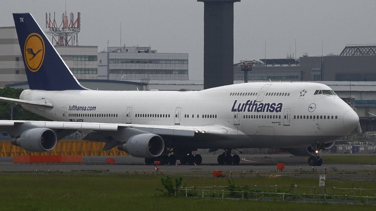 lufthansa boeing 747 400 d abtk takeoff from nrt 16r youtube. Black Bedroom Furniture Sets. Home Design Ideas