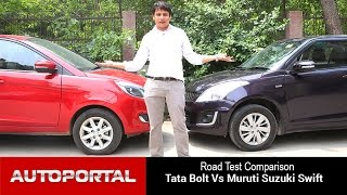 Tata Bolt VS Maruti Suzuki Swift Test Drive Comparison - Auto Portal