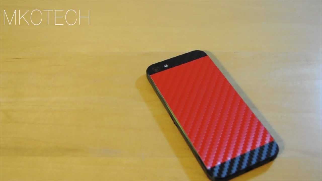 ICarbons 2 Tone Skin Review For IPhone 5 Black And Red