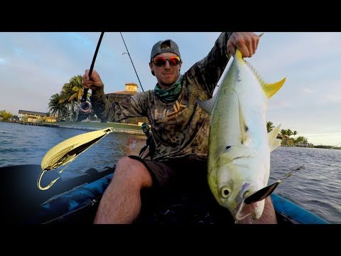 Gold Spoon Annihilation Kayak Fishing Cape Coral Florida - Episode 19