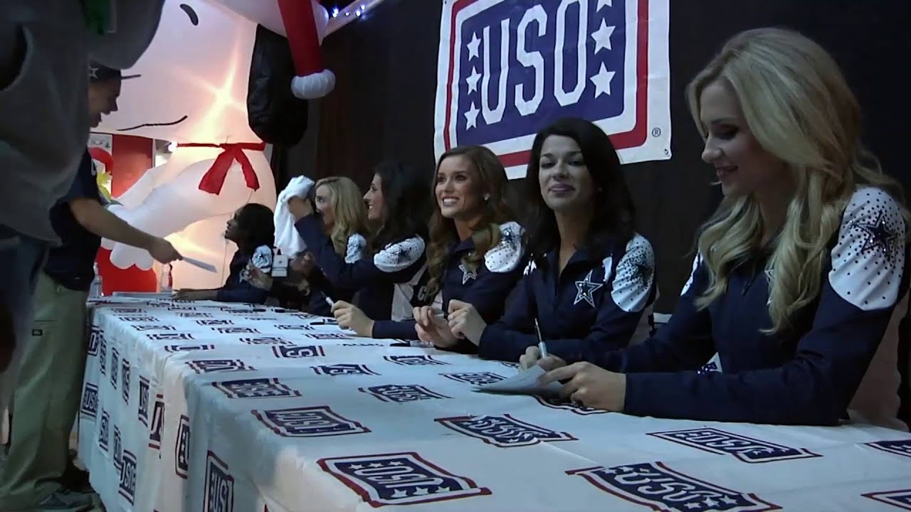 Uso hosts meet and greet with dallas cowboys cheerleaders youtube m4hsunfo