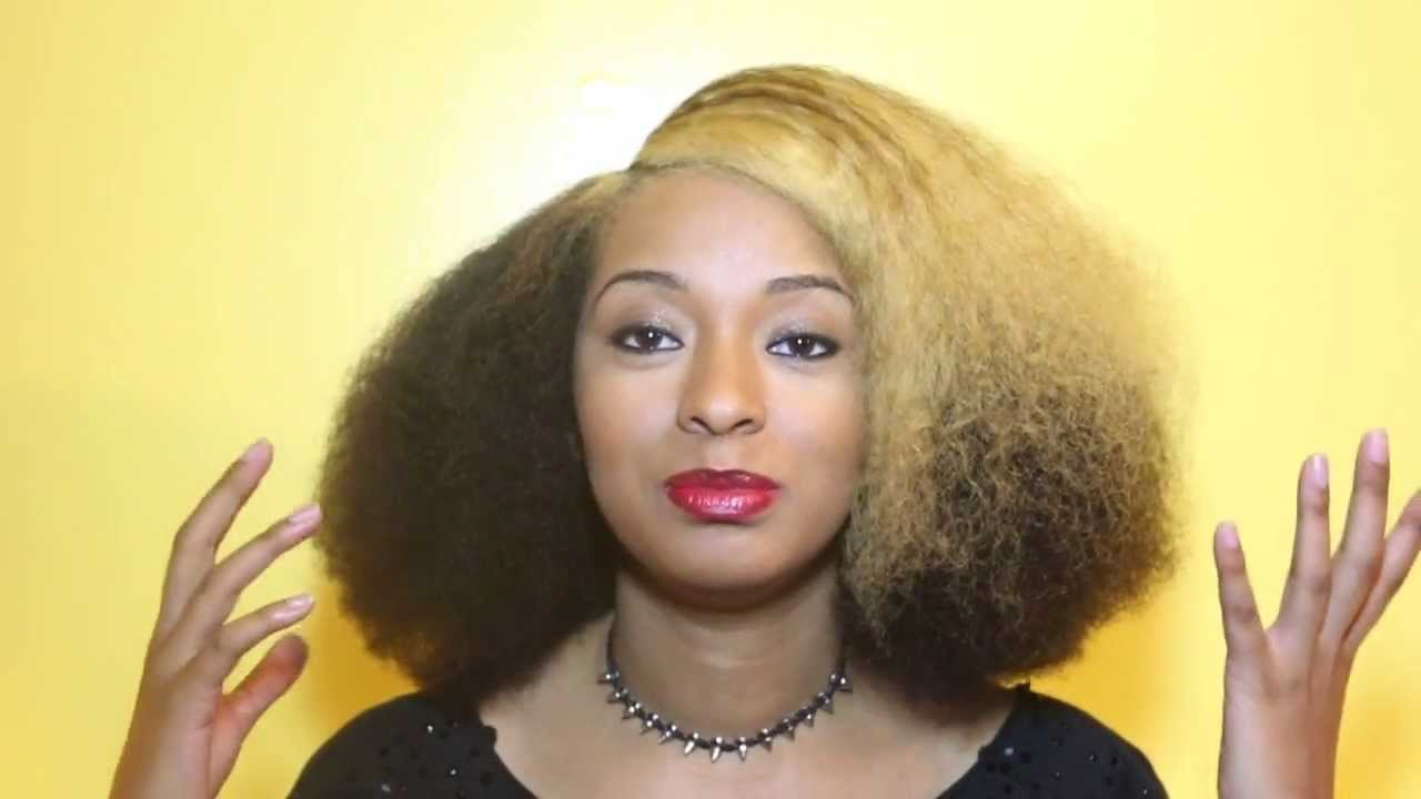 How to Create a Blowout Without Heat For Natural Hair - Black Hairstyles Short