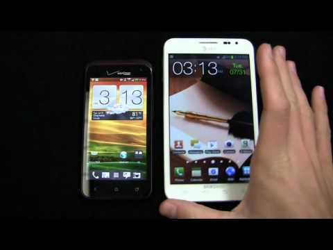 HTC DROID Incredible 4G LTE vs. Samsung Galaxy Note Dogfight Part 1
