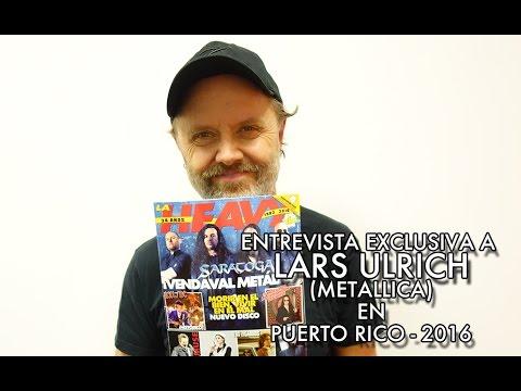 Entrevista exclusiva a Lars Ulrich (Metallica) en Puerto Rico 2016
