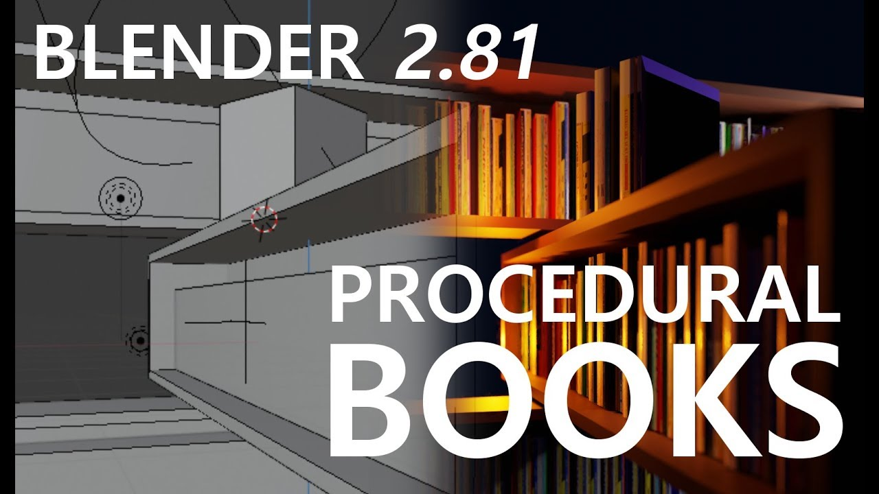 [Blender 2.81] 100% Procedural Books