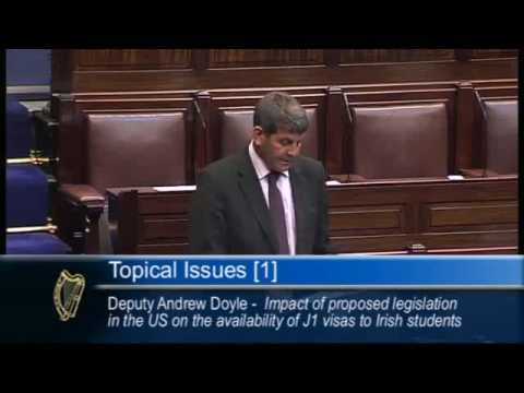 Andrew Doyle TD on securing the future of J1 visas for Irish students in the United States