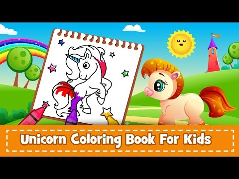 Unicorn Coloring Book - Android App (No Ads)🎨 (Promotional Video)