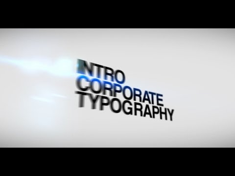 Intro Corporate Typography ( Videohive After Effects ...