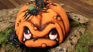 3 D Torte: Kürbis-Gesicht / How to make a 3 D Pumpkin Cake / Halloween / Motivtorte / Anleitung