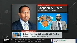 Stephen A. Smith Reacts To Knicks firing Head Coach David Fizdale, Mike Miller Named Interim HC
