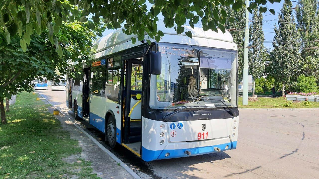 Первый Горожанин и 10 - ый маршрут | Троллейбус УТТЗ - 6241 - 10 - 02, Чебоксары.