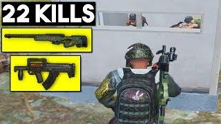 AWM AND GROZA DESTRUCTION! | 22 KILLS SOLO vs SQUADS | PUBG Mobile 🐼