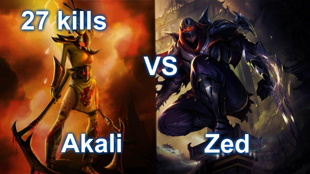 Akali vs Zed Mid - S4 Ranked Gameplay 4.15