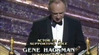Gene Hackman winning Best Supporting Actor